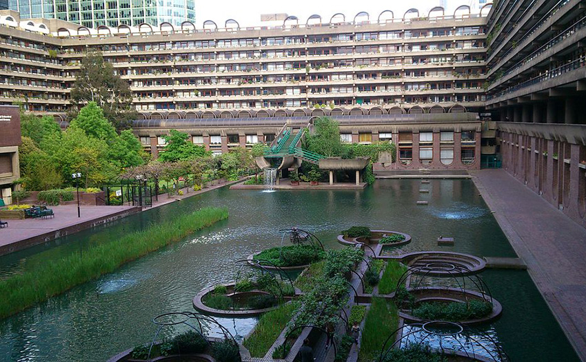 The Barbican's gardens, sunk into the lake, are only accessible for residents.