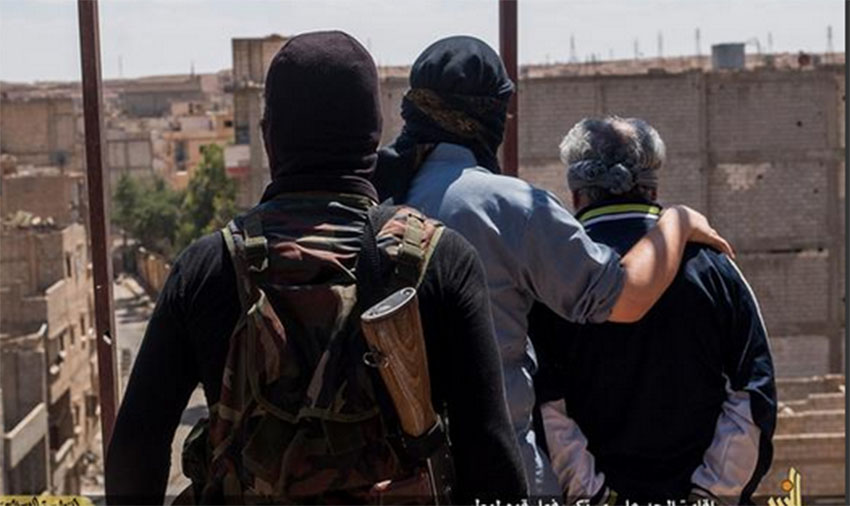 ISIS has thrown a gay man off a building