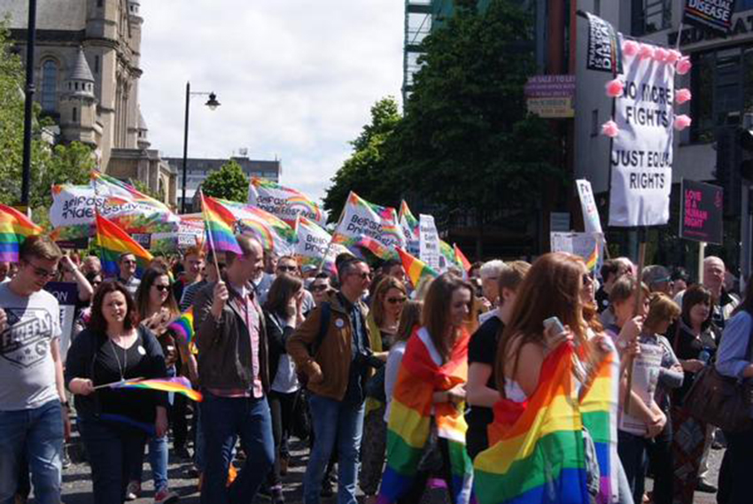 Thousands are calling on Northern Ireland to pass equal marriage