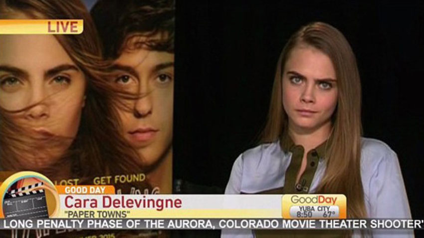 Cara Delevingne gives an awkward interview