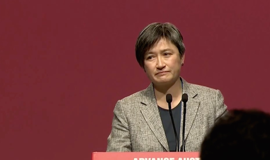 Lesbian Senator Penny Wong delivers emotional speech on gay marriage at the Australian Labor Party conference.