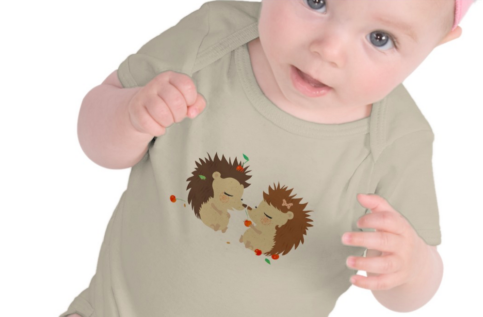 Baby in hedgehog outfit