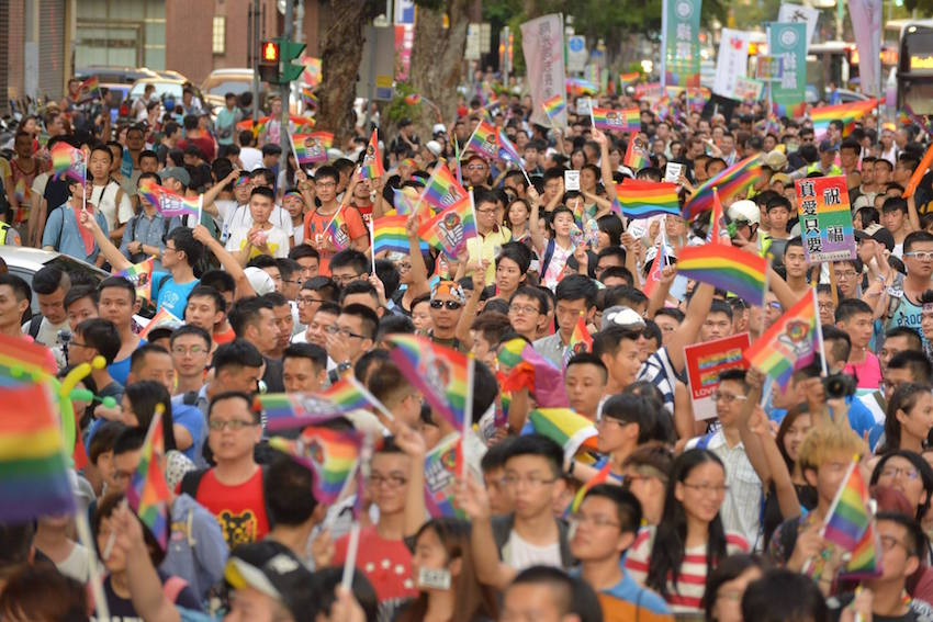 Thousands marched for gay marriage in Taipei last weekend.