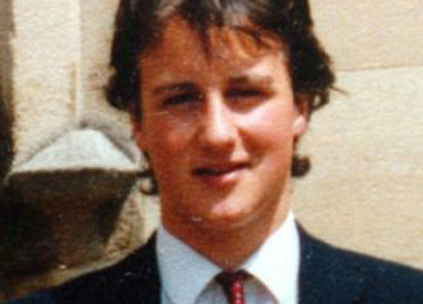 David Cameron was 'recruited' at a young age, but by who?