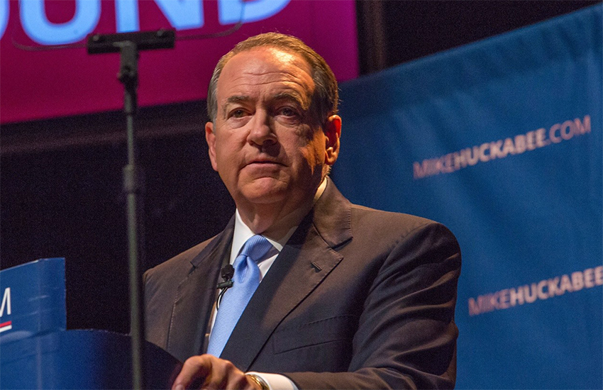 Mike Huckabee is a former governor of Arkansas.