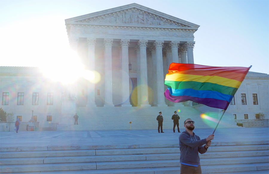 Supreme Court rainbow flag