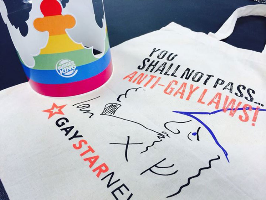 This year's GSN tote bags contain a rainbow crown from Burger King