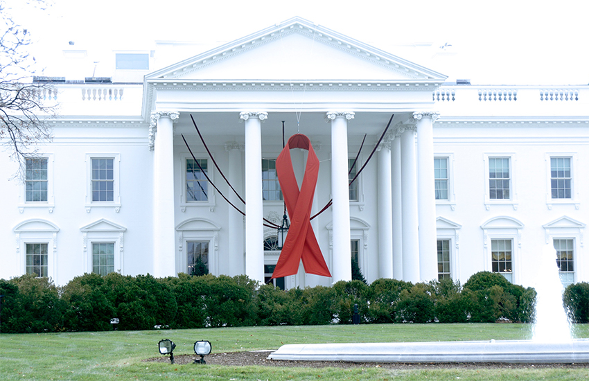 White House red ribbon