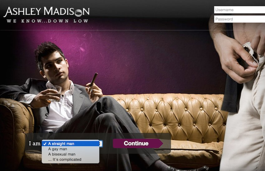Ashley Madison's Down Low site caters to 'married men seeking other men for casual, no-strings fun.'