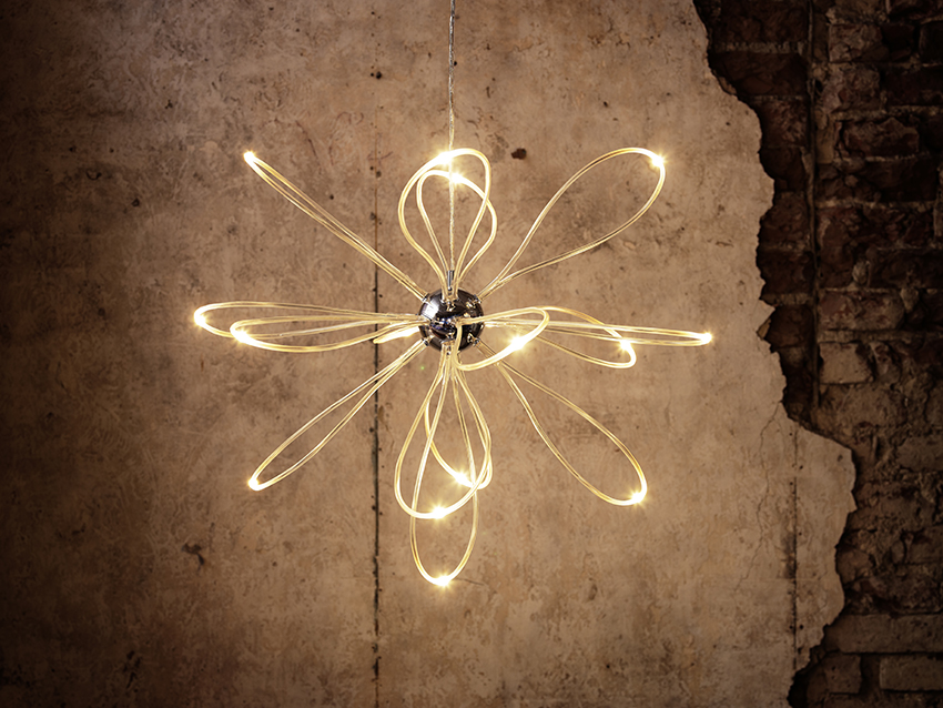 The Onsjo chandelier is one of the more unusual pieces of the new range.