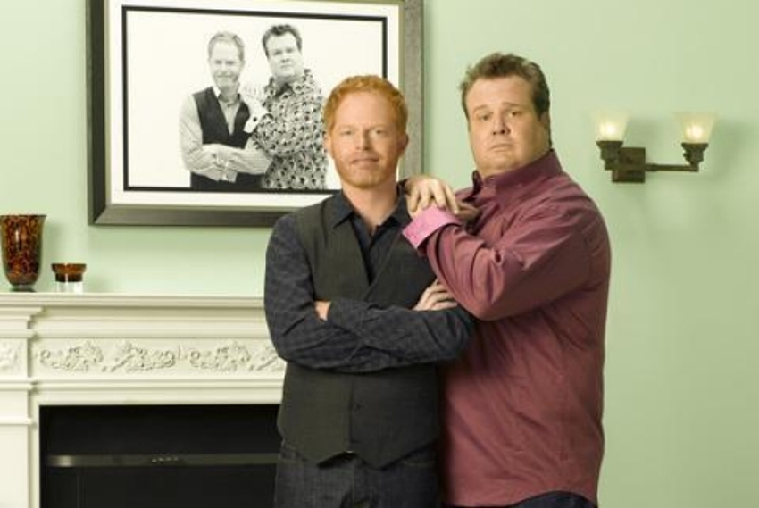 Jesse Tyler Ferguson and Eric Stonestreet play gay couple Mitch and Cam