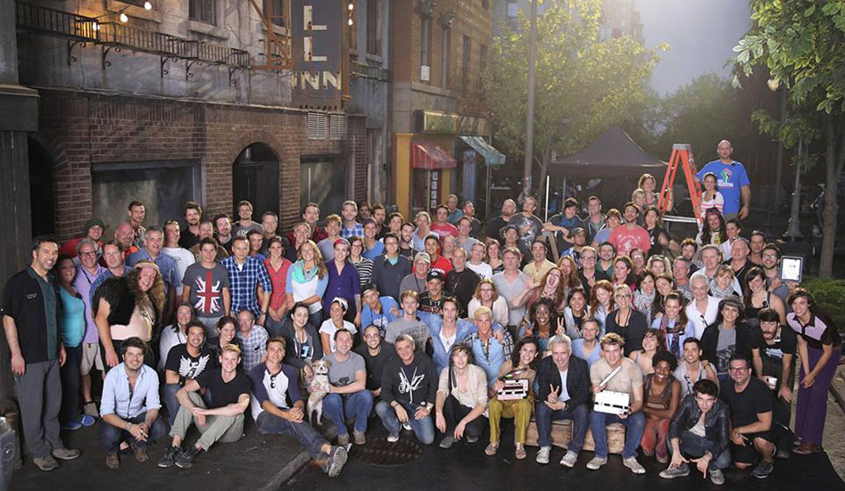 Cast and crew of the new Stonewall film on location in Montreal