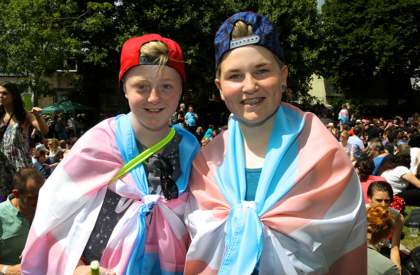 Young people supporting Trans Pride 2015