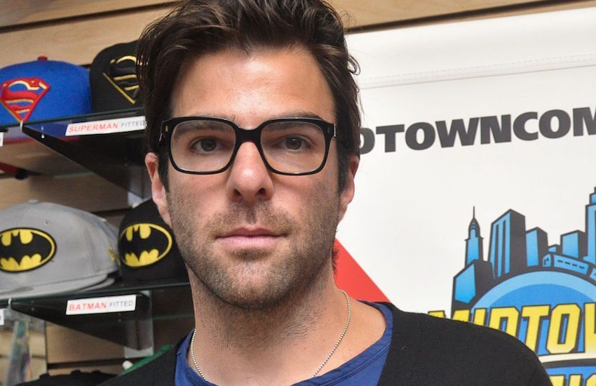Openly gay actor Zachary Quinto.