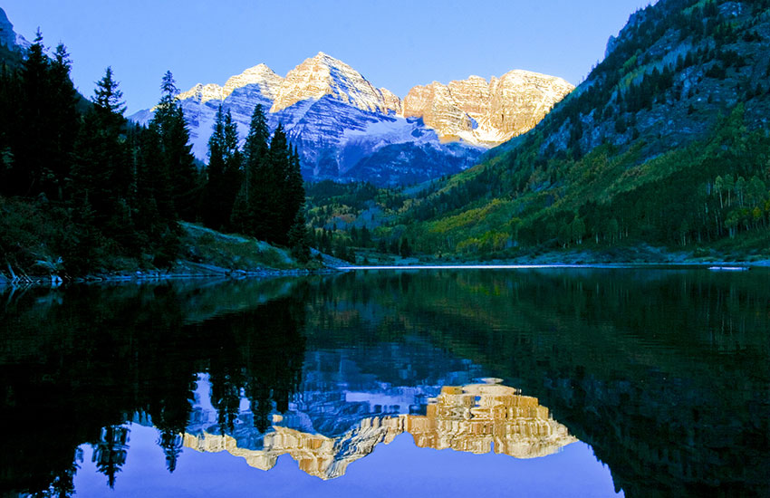 The Maroon Bells in Colorado