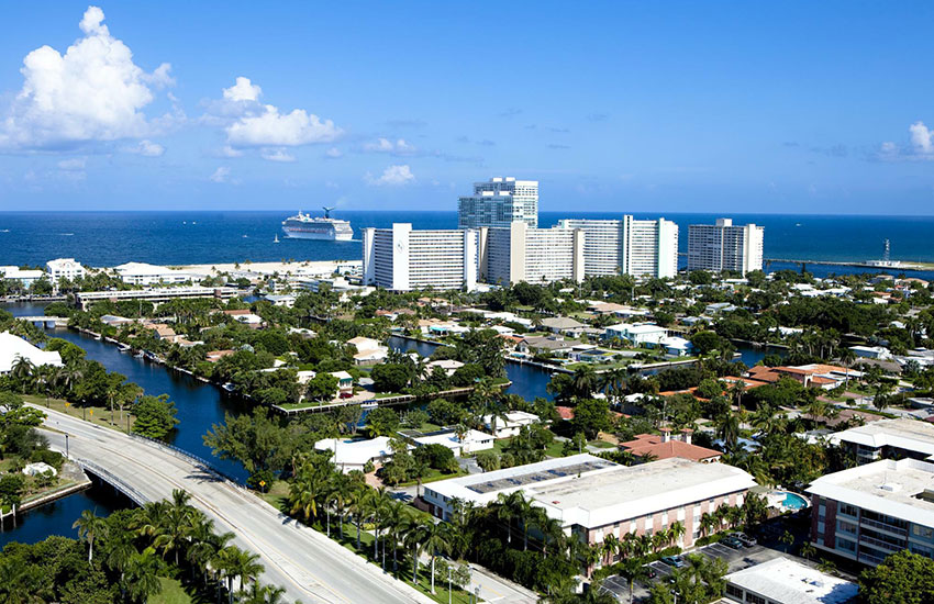Fort Lauderdale is the eighth biggest city in Florida