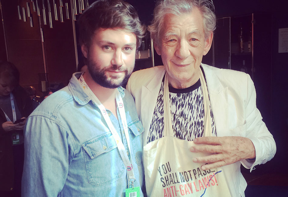 We caught up with Sir Ian McKellen at today's Manchester Pride