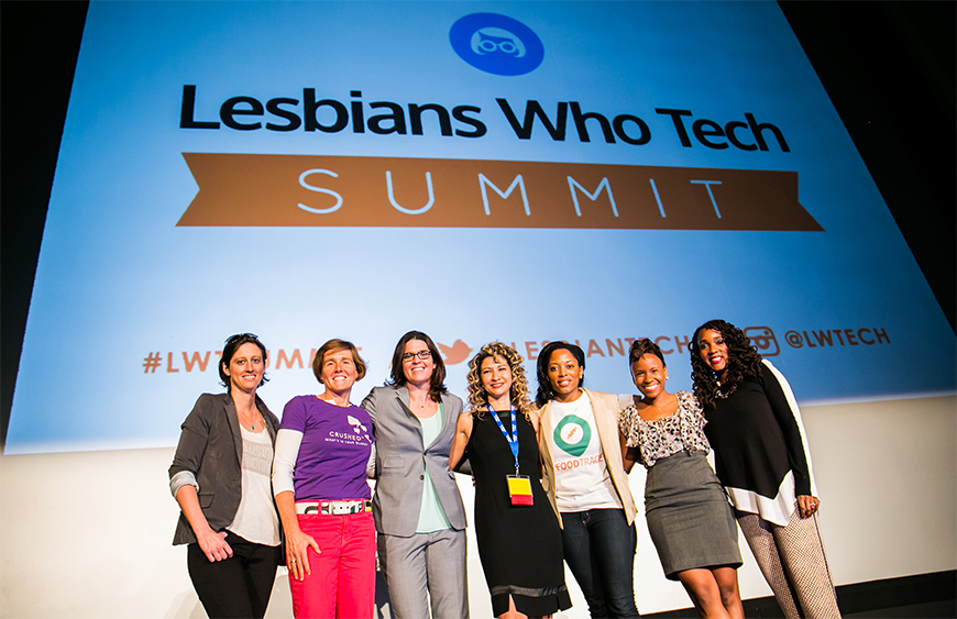 The Lesbians Who Tech summit in San Francisco earlier this year