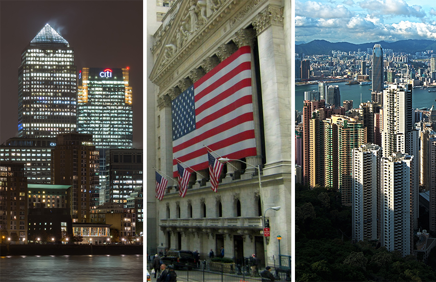 Events will take place in London, New York and Hong Kong
