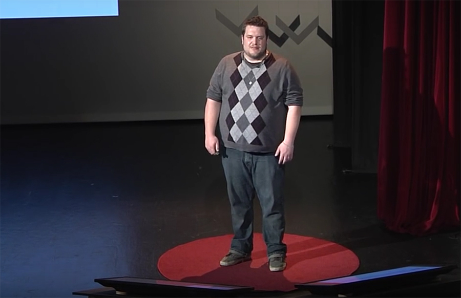Timothy Kurek delivers his TEDx talk