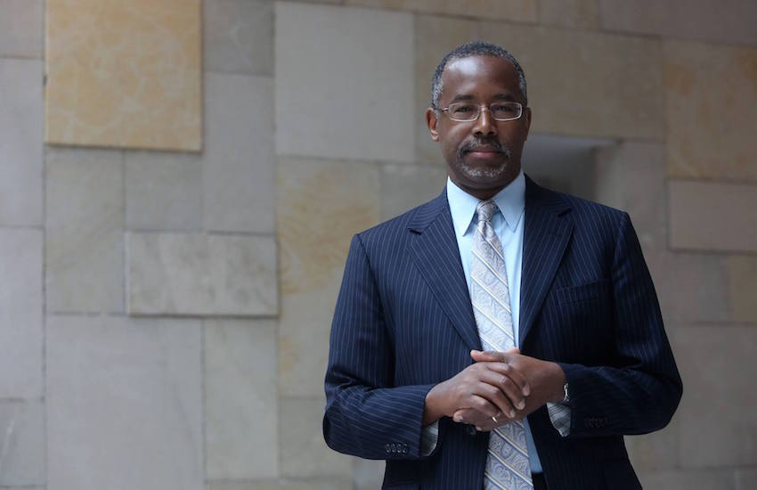 .Republican presidential candidate Ben Carson prefers the military policy Don't Ask, Don't Tell