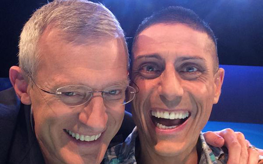 Jeremy Vine (left), who made it on the show, with CJ, who didn't