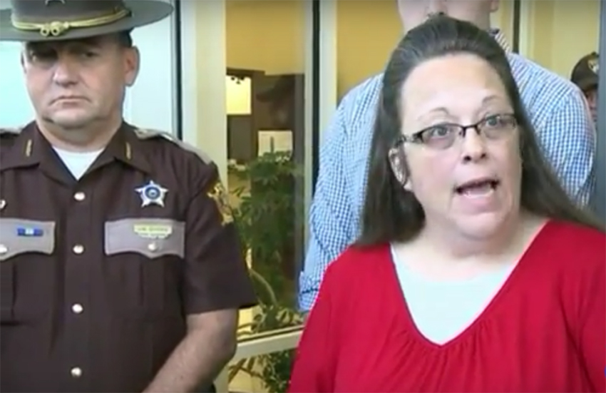 Kim Davis served jail time for refusing a marriage license to same-sex couple in Kentucky