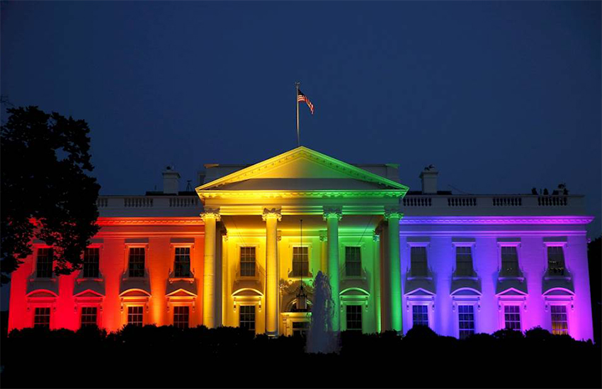The White House is lit in rainbow colors to mark the SCOTUS ruling on same-sex marriage in June