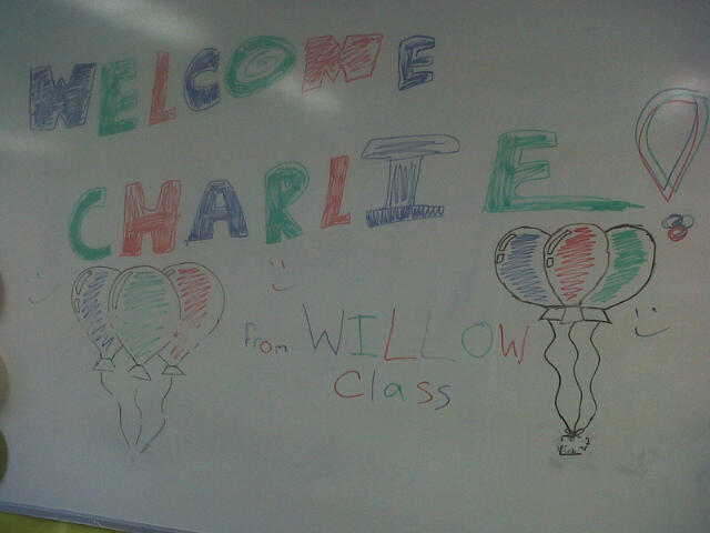 Whiteboard drawing from pupils helping trans friend