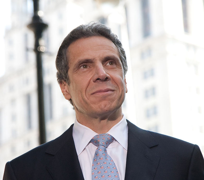 New York Governor Andrew Cuomo tells Donald Trump opponents to consider New York