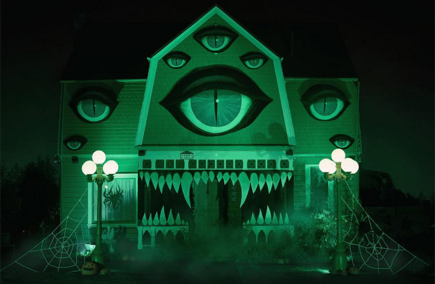 The eyes initially distract from the rather sharp set of teeth adorning McConnell's house.