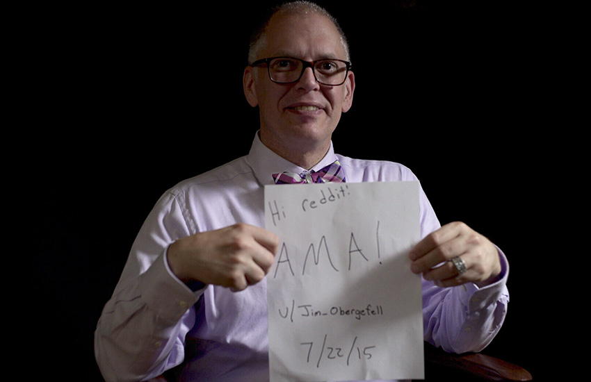 Jim Obergefell, a real estate agent from Ohio, fought for marriage equality in the United States.