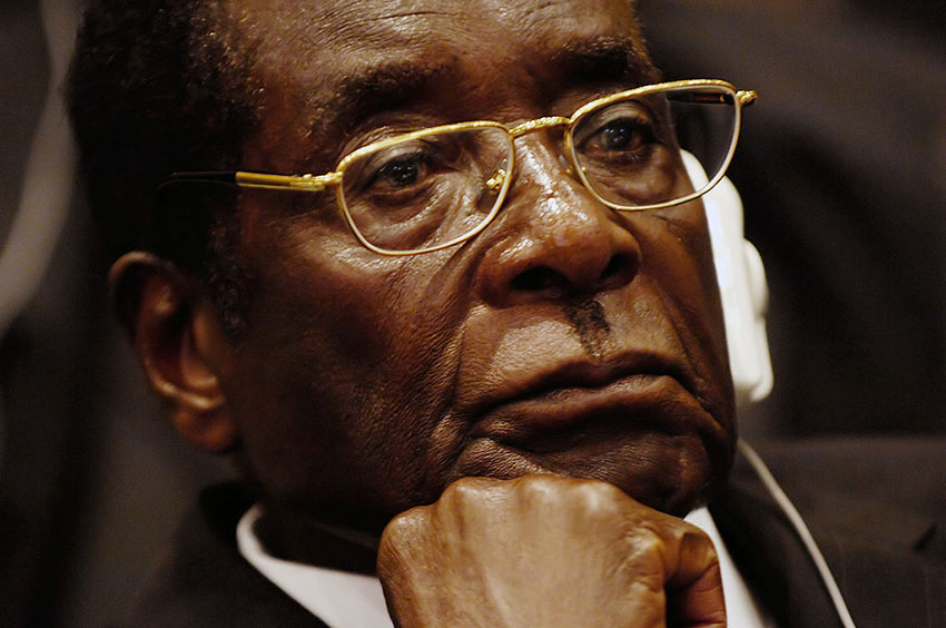 Robert Mugabe is the president of Zimbabwe