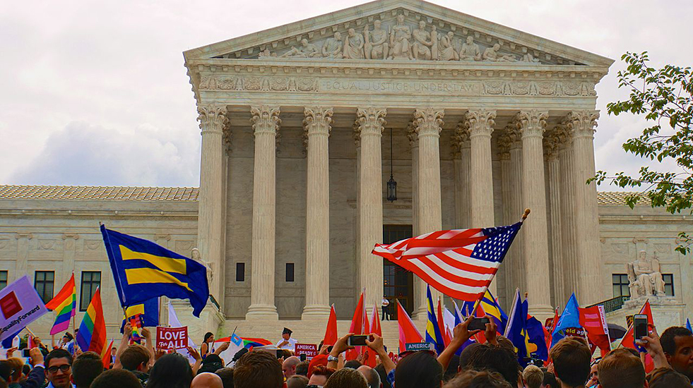 Marriage equality campaigners outside US Supreme Court: Was it the right focus for people of color?