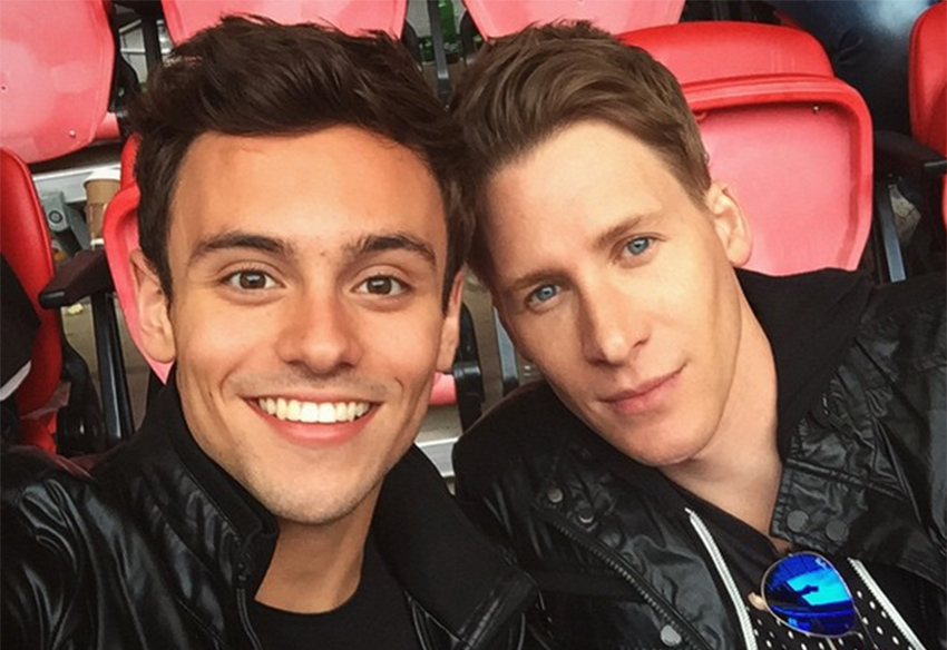 Tom Daley and Dustin Lance Black are engaged! Congrats!