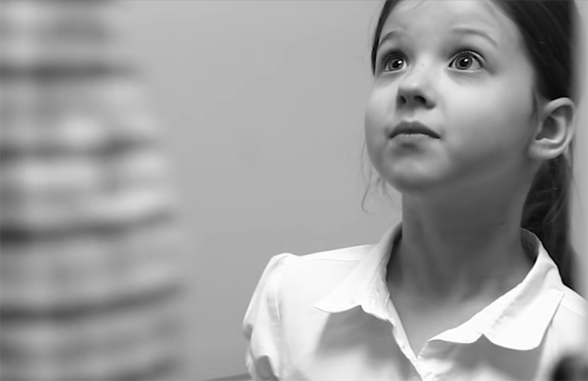 Campaign for Houston's latest advert shows a man following a little girl into a public restroom