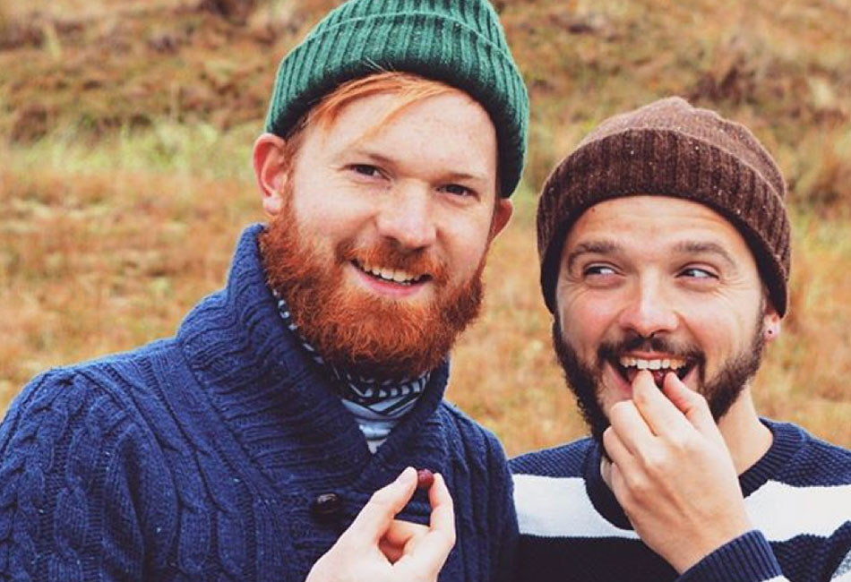 Gay travel Instagrammers Karl and Dan sample some autumn cranberries in the Netherlands