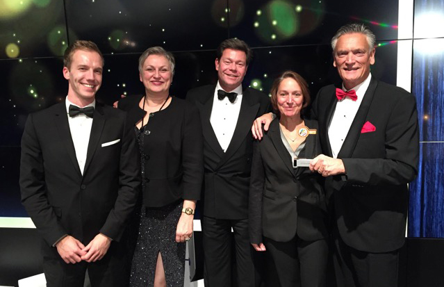 Harry van Dorenmanlen (far right), IBM Europe, General Manager BeNeLux, with IBM colleagues at the Workplace Pride Leadership Awards