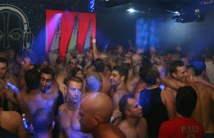 Clubbers at a 'Trade Future' party