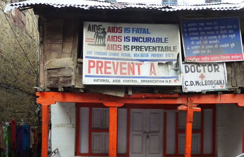 An AIDS clinic in Himachal Pradesh, India, where homosexuality is illegal.