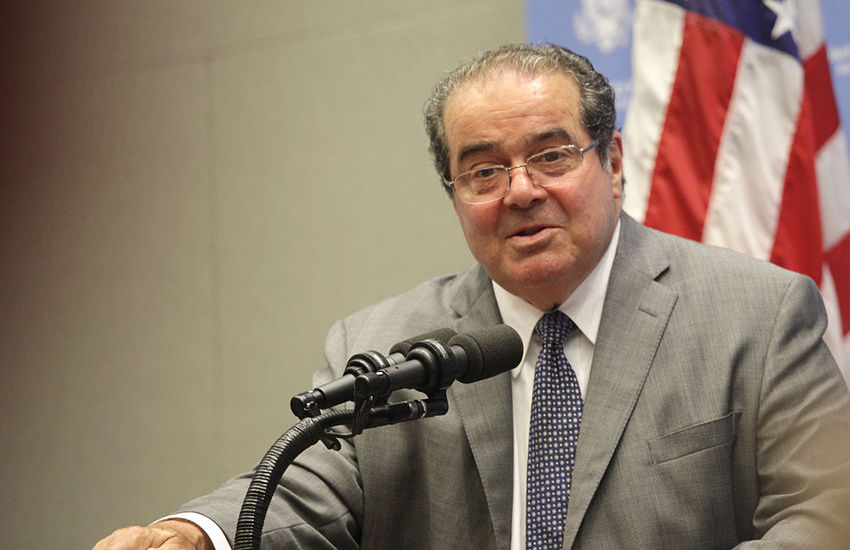 US Supreme Court Justice Antonin Scalia voted against legalizing gay marriage.