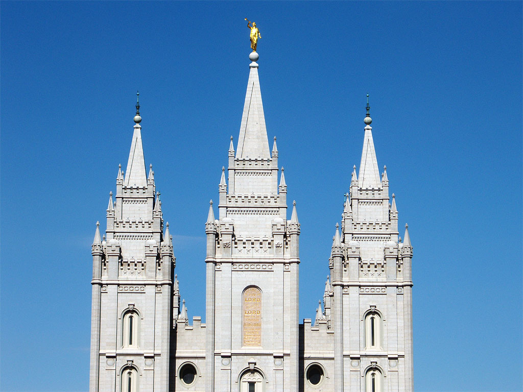 The largest Mormon temple is in Salt Lake City.