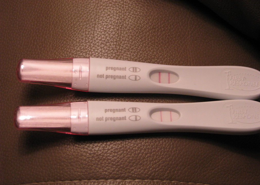 two pregnancy tests