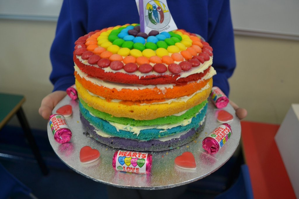 Murrayfield Primary great rainbow bake off