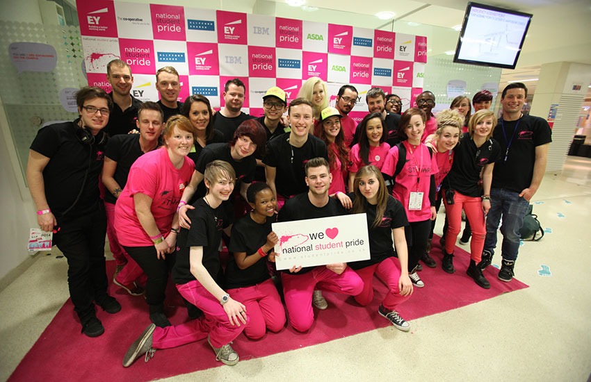 The National Student Pride team at last year's event in London