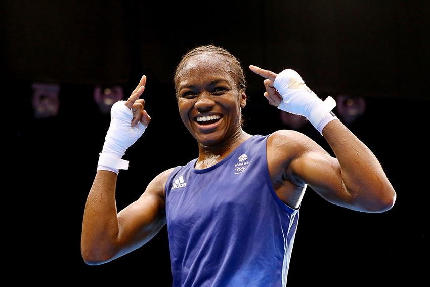 Bisexual boxer Nicola Adams in her moment of Olympic triumph.