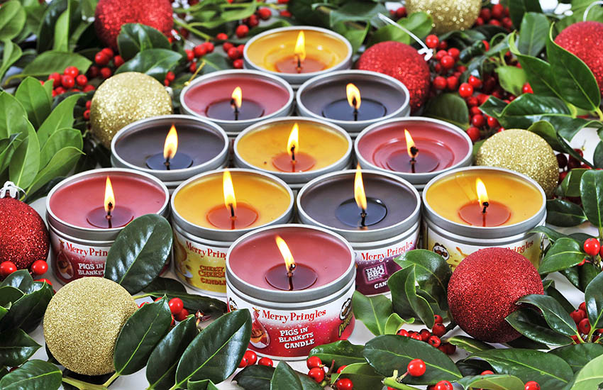 Smelling exactly like their chip-counterparts, the candles were released just in time for Christmas.