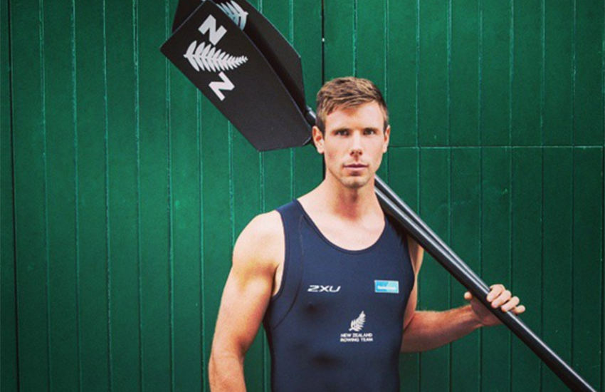 Kiwi rower Robbie Manson is aiming for gold at the Rio Olympics.