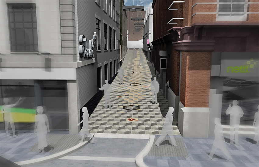 An artist's impression of the revamped Eberle Street