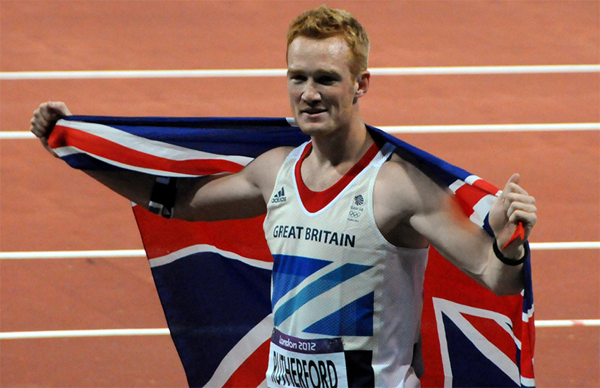 Greg Rutherford after winning a gold medal at the 2012 London Olympics